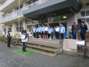 10月14日、強歩大会開催。