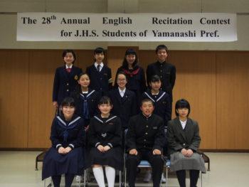 県英語暗唱大会出場。