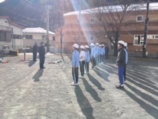 少年消防隊、練習始まる。