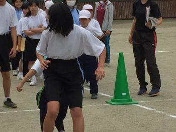 小菅小中合同体育祭にむけて(小中合同練習①)