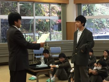 朝集会(11月14日)