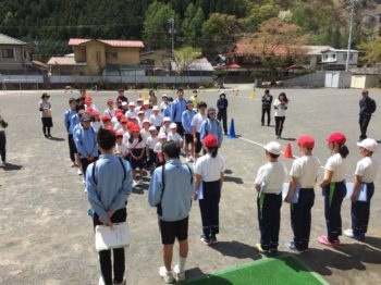 小中合同体育祭合同練習