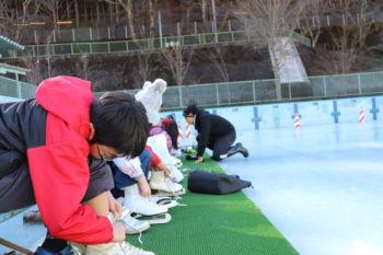 スケート授業開始